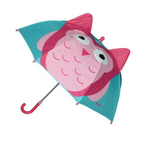 Playshoes Regenschirm EULE in türkis/pink