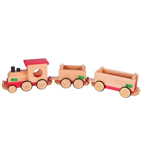 Beck Eisenbahn aus Holz, rot/natur