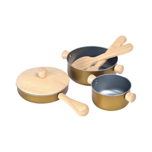Plan Toys Geschirrset KOCHEN aus Holz