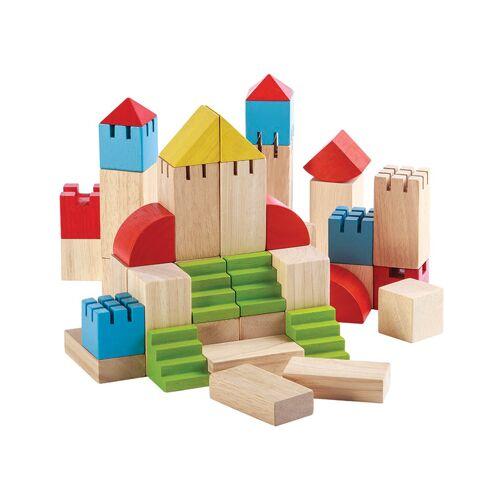 Plan Toys Holz-Bauklötze BURG 46-teilig