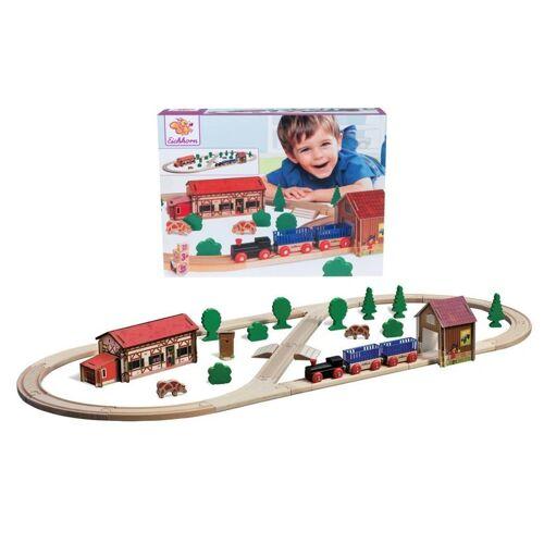 Eichhorn Holz-Eisenbahn BAUERNHOF-SET 41-teilig