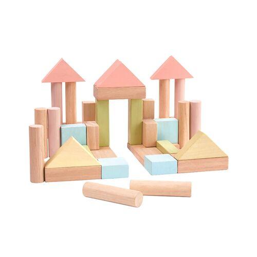 Plan Toys Holz-Spielzeug BAUKLÖTZE 40-teilig in bunt