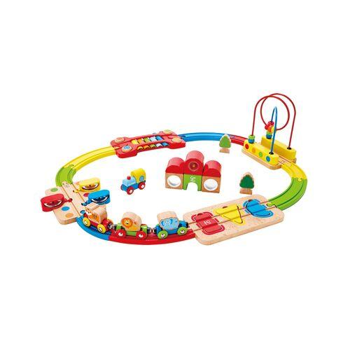 HaPe Kinder-Eisenbahn REGENBOGEN-PUZZLE 30-teilig in bunt