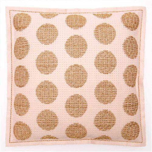 Rico Design Stickpackung Kissen puder Punkte gold 42x42cm