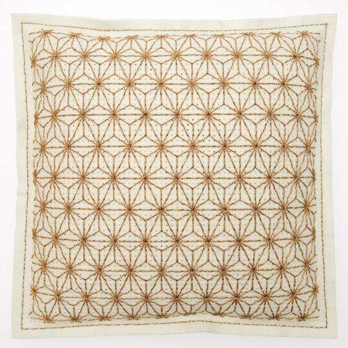 Rico Design Stickpackung Kissen mint Sterne gold 42x42cm