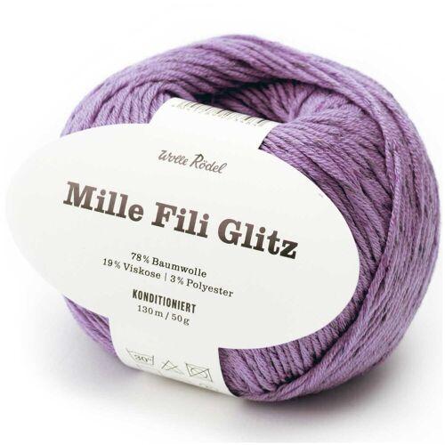Wolle Rödel Mille Fili Glitz 50g 120m olivgrau