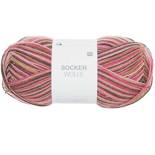 Rico Design Sockenwolle 100g 410m braun Mix