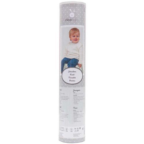 Rico Design Strickset Babypullover weiß 9teilig