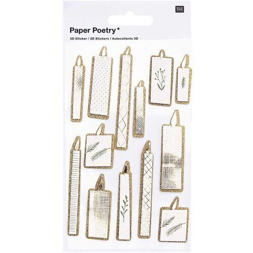 Rico Design Paper Poetry 3D Sticker Kerzen