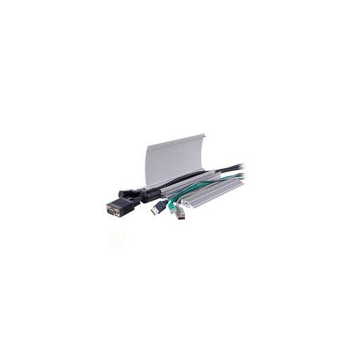 DataFlex Aufklappbarer Kabelschutz Gerade 452