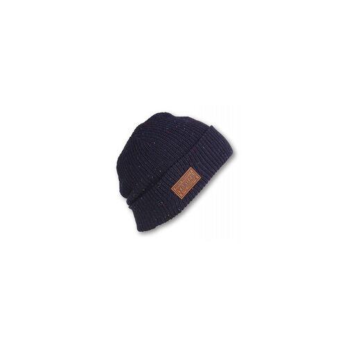 Yakuza Tab Knit Beanie (Größe: One Size, Farbe: blau)