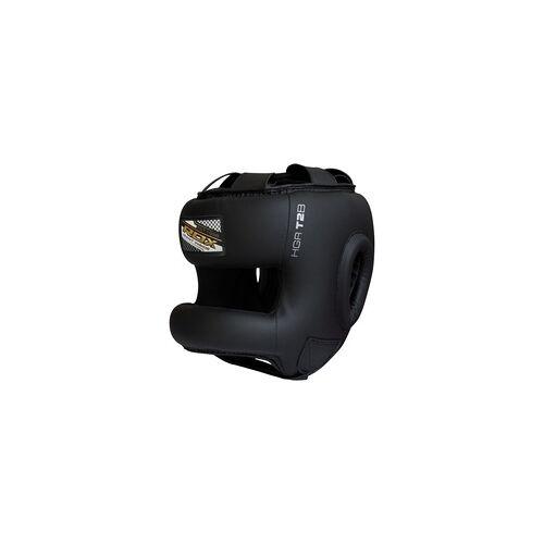 RDX T2 Kopfschutz mit Nasenschutzleiste (Größe: XL, Farbe: Schwarz)