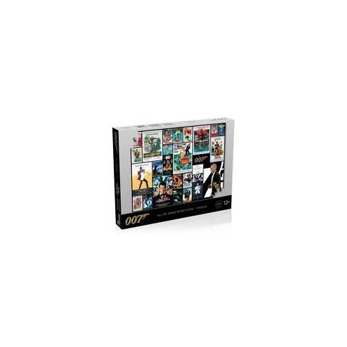 Winning Moves Puzzle - James Bond Movie Poster 1000 - All 25 Bonds - 1 Puzzle