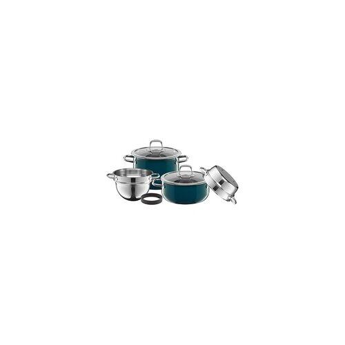 WMF Silit Compact Topf-Set, 4-teilig, Petrol