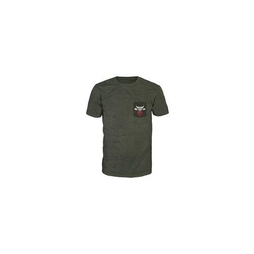 +alprausch Alprausch Muni Täschli Herren T-Shirt kumbu green melange