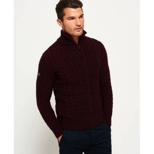 Superdry Jacob Heritage Henley-Pullover XXL rot