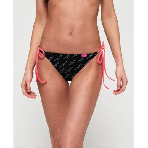 Superdry Superdry Tri Bikinihöschen mit Logo 42 schwarz