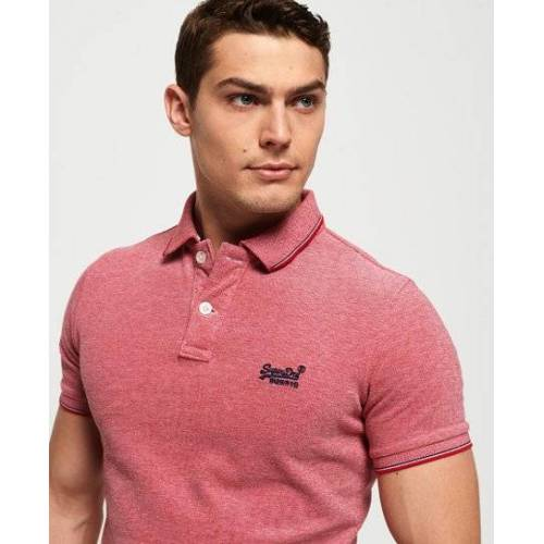 Superdry Poolside Polohemd aus Pikee XXL rot