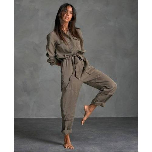 Superdry Desert Military Jumpsuit 36 Kaki