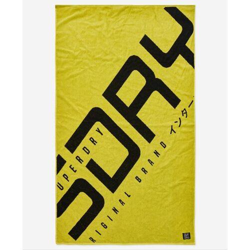 Superdry Hyper Logo Strandtuch 1SIZE gelb