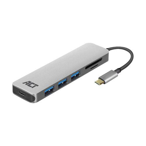 ACT USB-C 4-Ports USB-Hub mit Stromversorgung USB-Hub