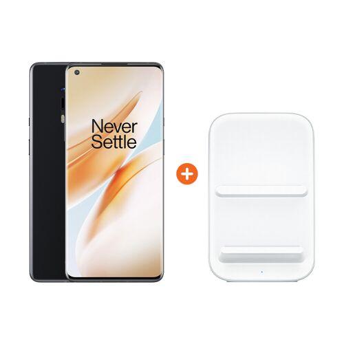 OnePlus 8 Pro 128 GB Schwarz 5G + OnePlus kabelloses Ladegerät 30W
