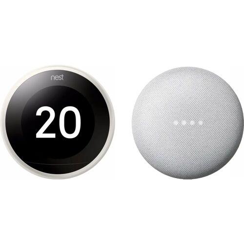 Google Nest Nest Learning Thermostat V3 Premium Weiß + Google Nest Mini Weiß