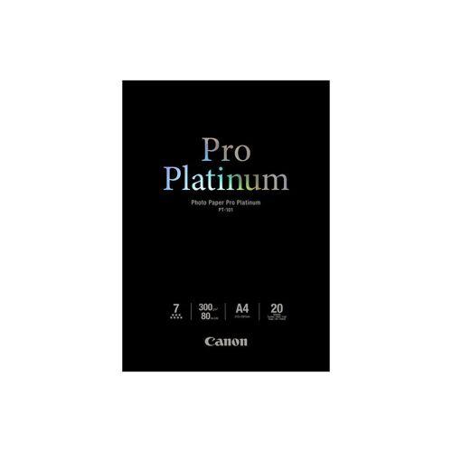 Canon PT-101 Pro Platin Fotopapier 20 Blatt A4 Papier-