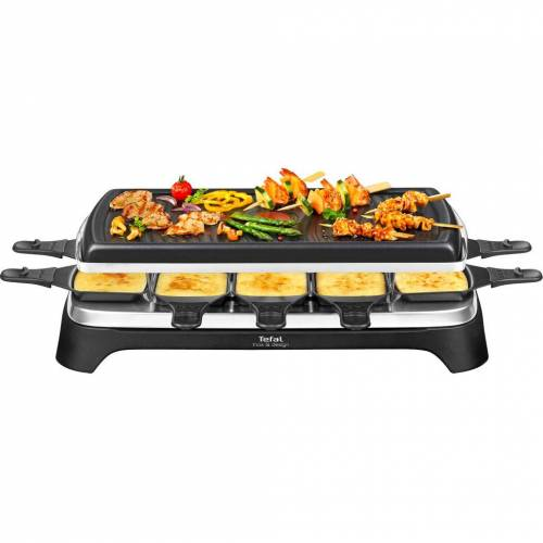 Tefal Raclette & Grill Inox & Design RE458812 Raclette-Grill