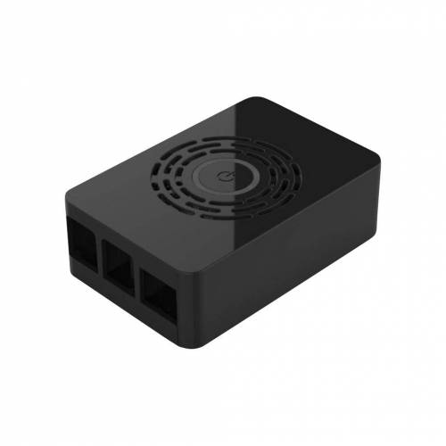 Raspberry Pi Multicomp Pro Raspberry Pi 4 Gehäuse - Power-Button - Schwarz