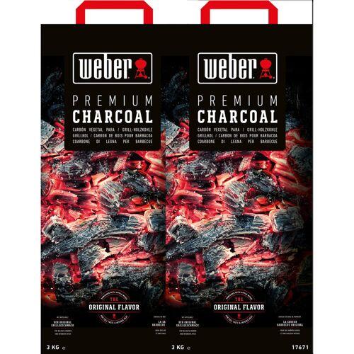 Weber Holzkohle 10 kg Duo Pack Holzkohle