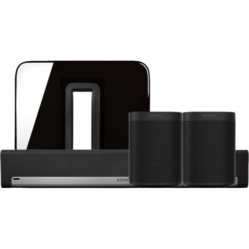 Sonos Playbar 5.1 + One (x2) + Sub Schwarz Soundbar