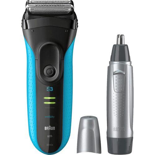Braun 3040 Wet & Dry + Braun EN10 Nasentrimmer Rasierer