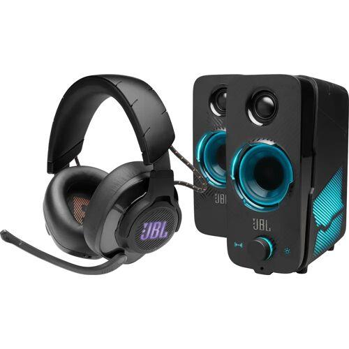 JBL Quantum 600 Schwarz + JBL Quantum DUO Lautsprecher Gaming-Headset