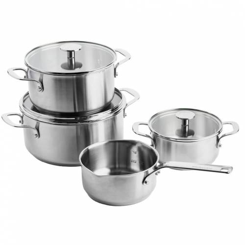 KitchenAid Stainless Steel 4-teiliges Kochtopfset Topf
