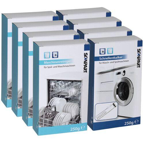 Scanpart Multipack Geschirrspüler/Waschmaschine Reinigung und Entkalker 4+4