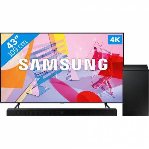 Samsung QLED GQ43Q60T + Soundbar Fernseher