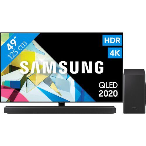 Samsung QLED GQ49Q80T + Soundbar Fernseher