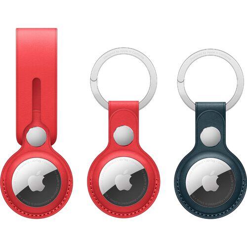 Apple AirTag Schlüsselanhänger 2er-Pack + Leder-Schlüsselanhänger