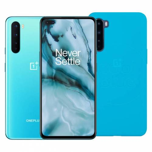 OnePlus Nord 256 GB Blau 5G + OnePlus Nord Sandstone Back Cover Blau