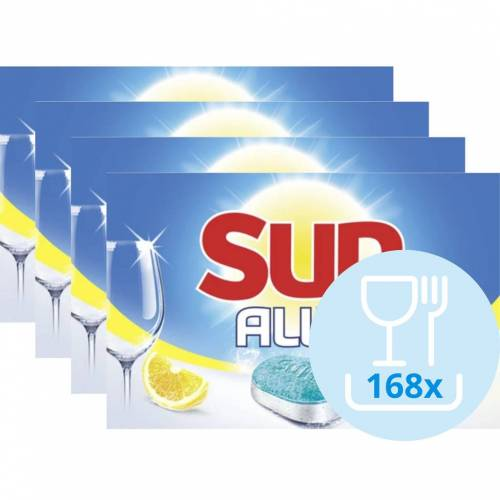 Sun All-in-1 Zitrone - 168 Stück Spülmaschinentab