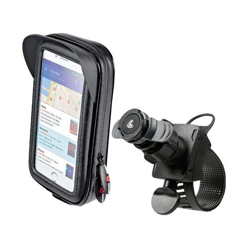 Lampa Opti-Belt Handyhalterung Lenker Fahrrad/Motorrad + Universal Handyhülle Leder