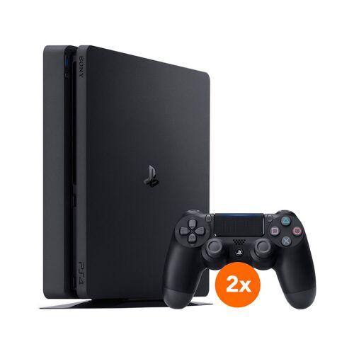 Sony PlayStation 4 Slim 500 GB + 2 Dualshock-Controller Konsole