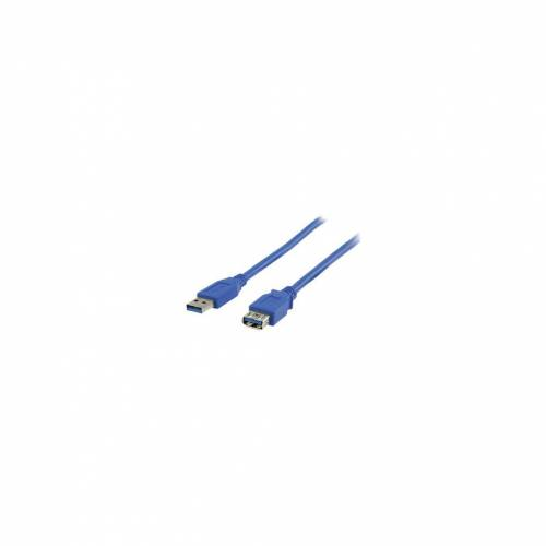 Valueline USB 3.0 Verlängerungskabel 2 m blau Datenkabel