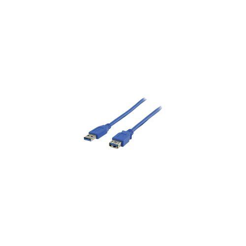 Valueline USB 3.0 Verlängerungskabel 3 m blau Datenkabel
