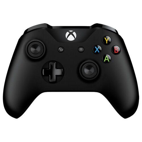 Microsoft Xbox One kabelloser Controller in Schwarz + Kabel Controller