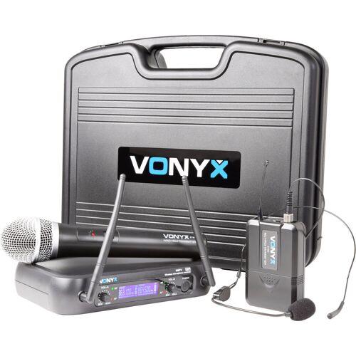 Vonyx WM73C (Set mit Hand- und Headset-Mikrofon) Studiomikrofon