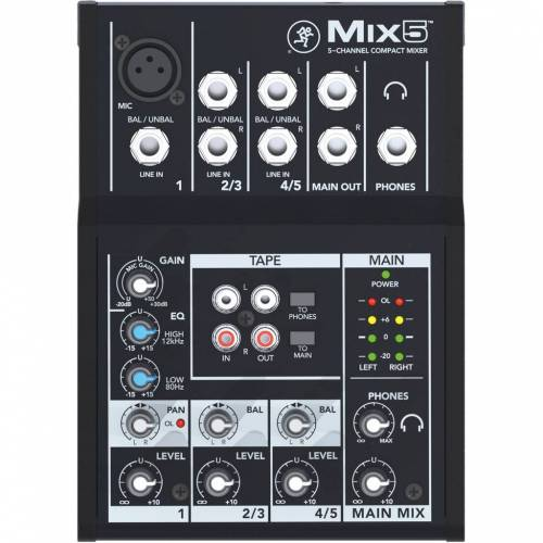 Mackie MIX 5 Pro Audio Mischpult