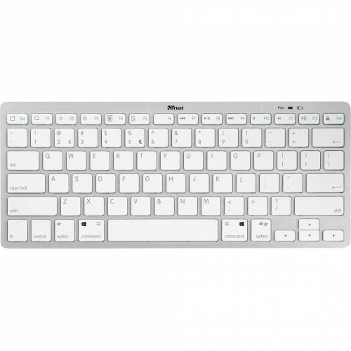Trust Nado kabellose Bluetooth Tastatur Weiß Tastatur