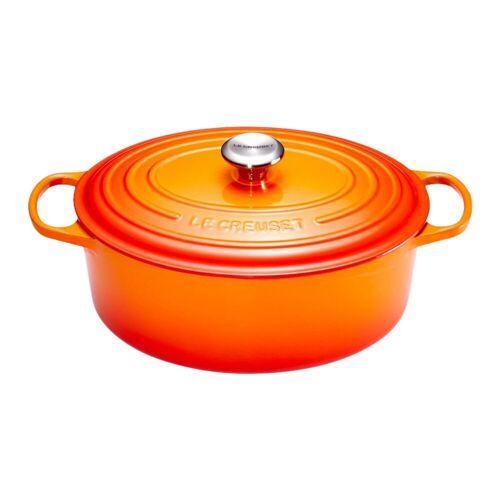 Le Creuset Ovaler Bräter 29 cm Orangerot Topf